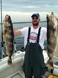 trophy walleye fishing on Lak Erie